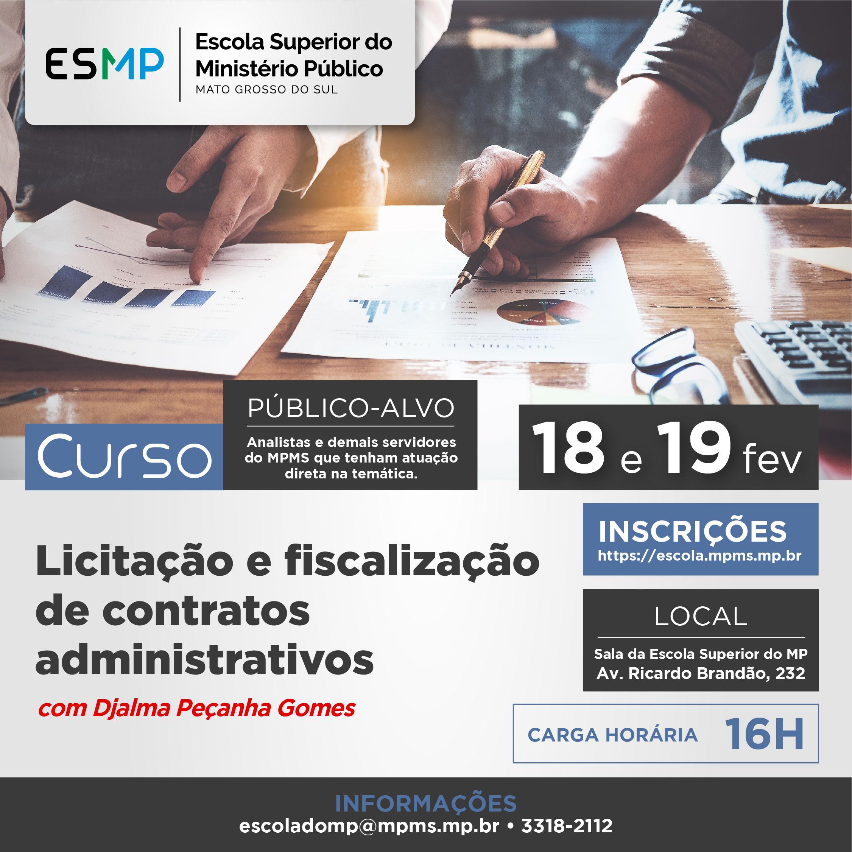 Licitação e fiscalização de contratos administrativos