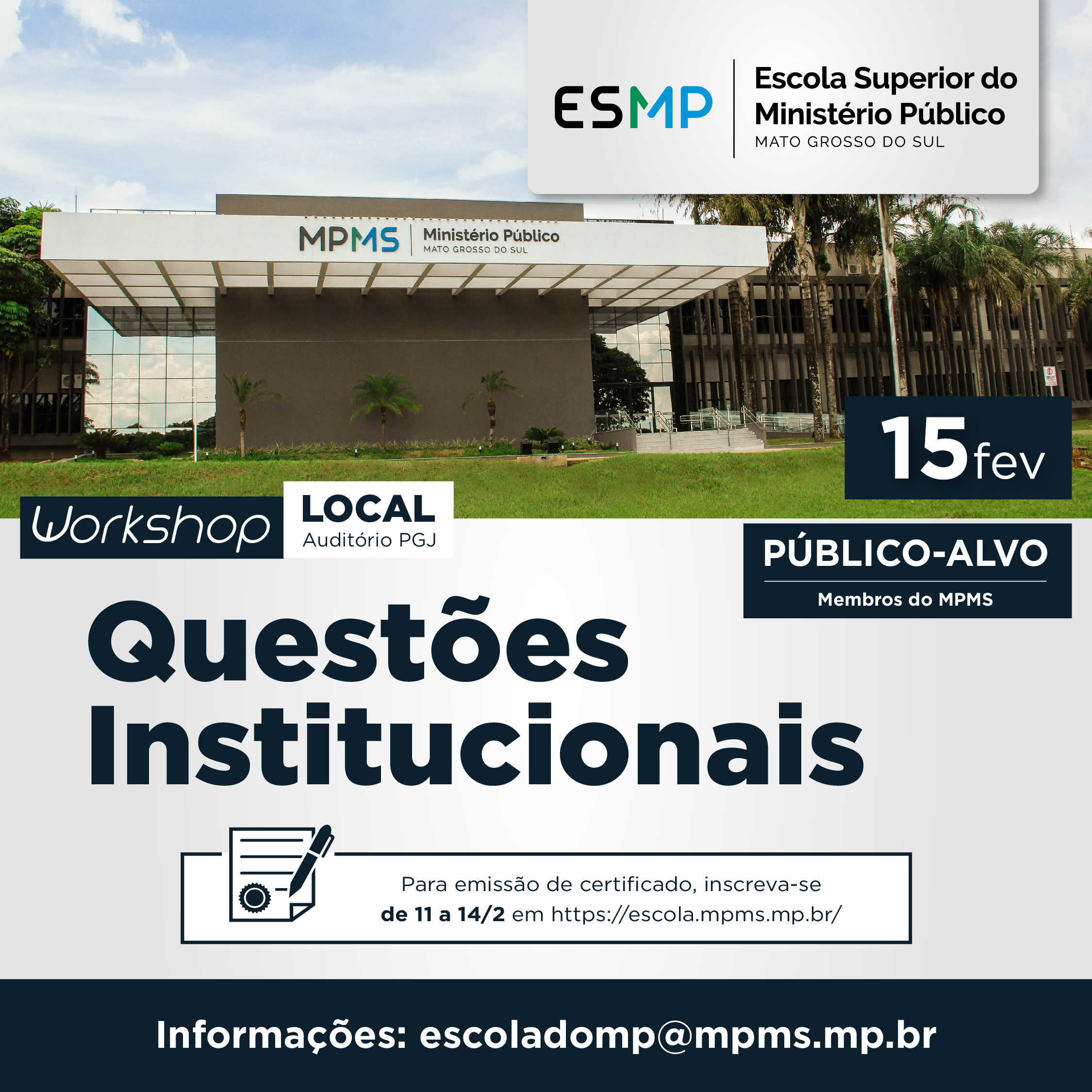 Workshop Questões Institucionais