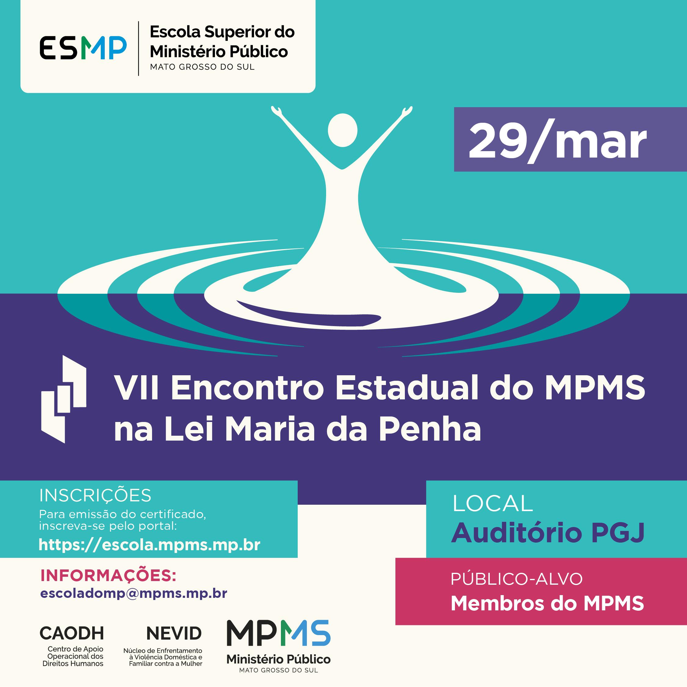 VII Encontro Estadual do MPMS na Lei Maria da Penha
