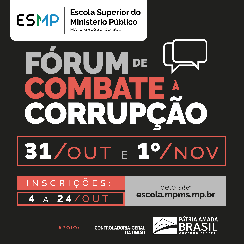 Forum de combate à Corrupção